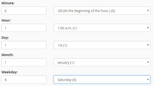 set time common setting